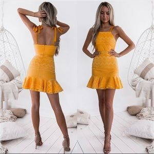 Two Sisters yellow dress